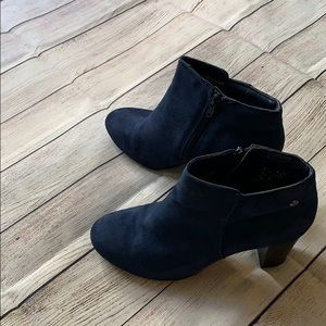 Hush Puppies Navy Blue Suede Boots Size 7.5